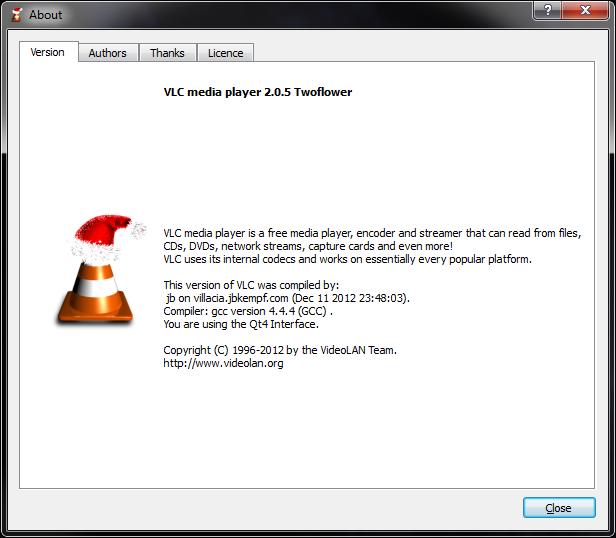 VLC says Merry Christmas