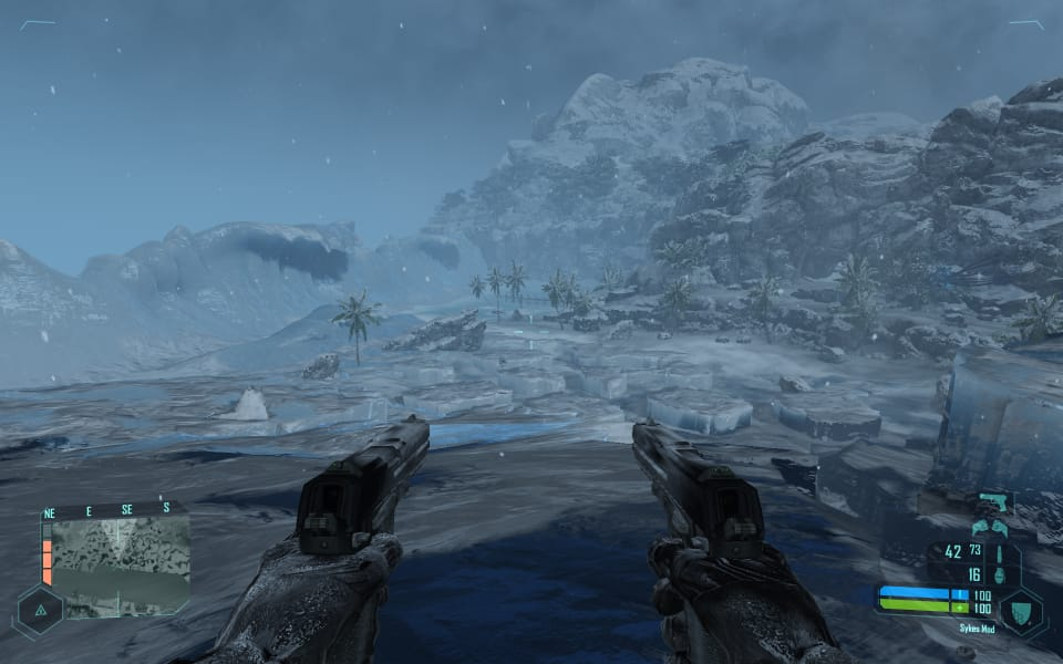Crysis Warhead screenshot (frozen beach and ocean)