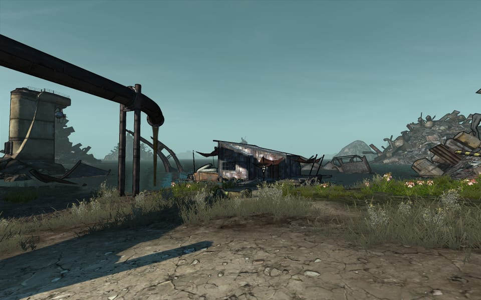 Borderlands screenshot from the Trash Coast area