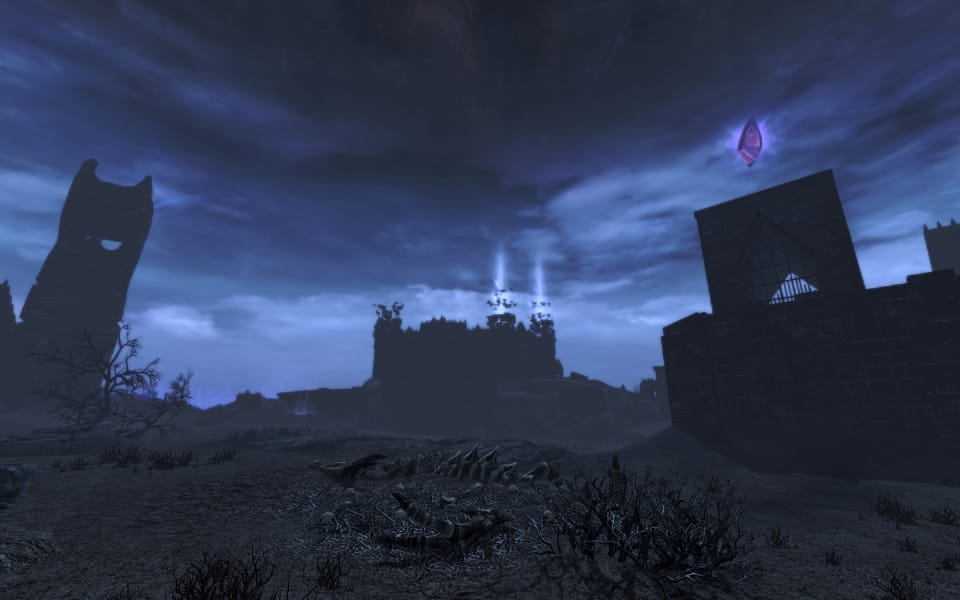 The Soul Cairn, one of the areas added by Dawnguard. A very dark and unwelcoming place.