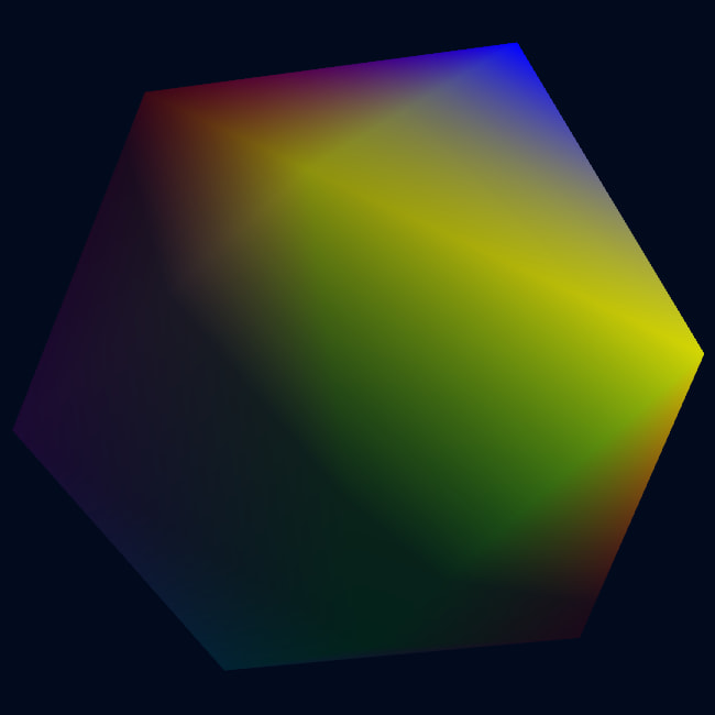 a multicolored icosahedron