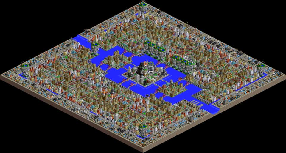 A screenshot of New Pandorae in SimCity 2000
