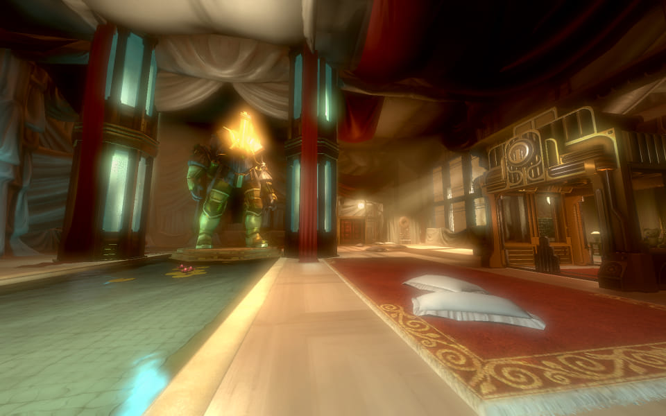 Screenshot from Bioshock 2, from the Victorian mansion part.