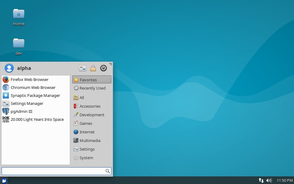 Screenshot of Xubuntu 16.04 LTS