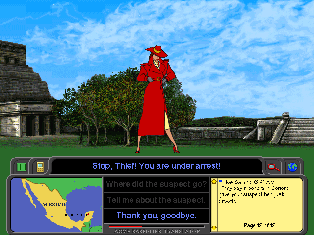 Screenshot of Carmen Sandiego, in Mexico