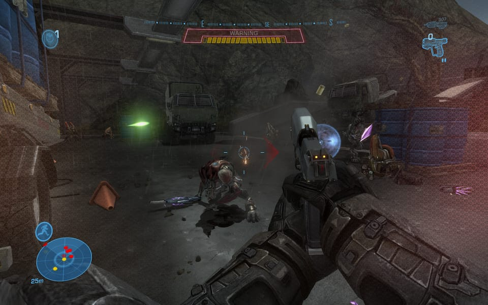 Screenshot of Halo: Reach, showing the new Jackals.