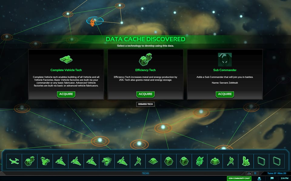 Screenshot of what upgrade to choose.