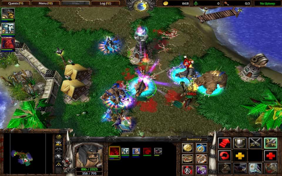 Screenshot of WarCraft 3