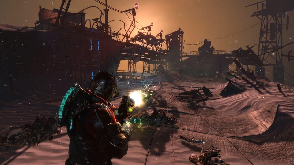 Screenshot of Dead Space 3 combat